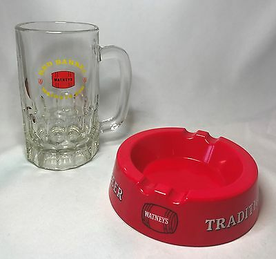 Watneys Red Barrel Traditional Beer Melamine Ashtray - Bar Pub Ware - England