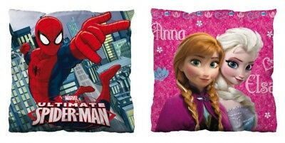 Disney Kissen, Dekokissen,Kinderkissen, versch. Motive, Frozen, Spiderman, 35x35