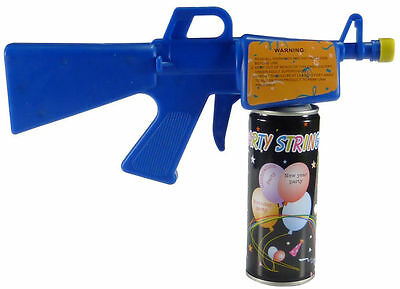Party Silly Streamer String Gun Blaster - Comes with two 3oz cans