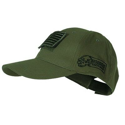 Voodoo Tactical Hunting Hat Cap with Removable US Flag Patch OD Green