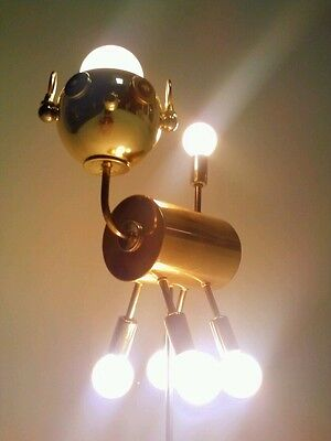Vintage Dog Puppy Atomic Ufo Lamp Light Fixture Sputnik Eyeball Orb Torino Style