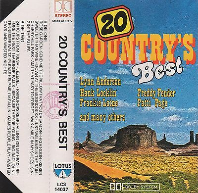 20 COUNTRY'S BEST V/A MC Tape MUSIKKASSETTE Freddy Fender PATTI PAGE H. Locklin