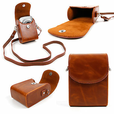 PU Leather Case in Vintage Brown for Sony Cybershot NEX-5, RX100, A5000L, A5100
