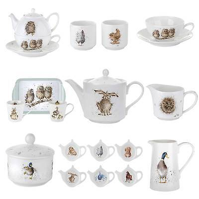 Wrendale Designs Pottery - Teapot, Jug, Tray Set, Sugar Bowl or Tea Bag Tidy