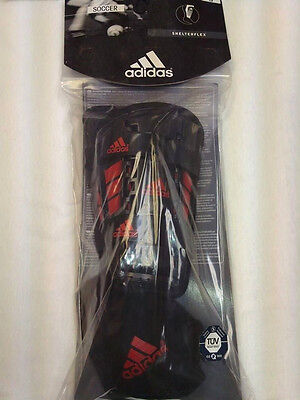 Adidas Kids Unisex Shinguards with Ankle Support Black/red Brand New w/ Tags