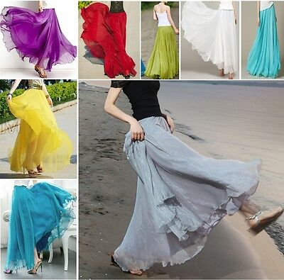 Gonna Lunga e Vestito Donna - Woman Maxi Skirt and Dress - Chiffon 130002