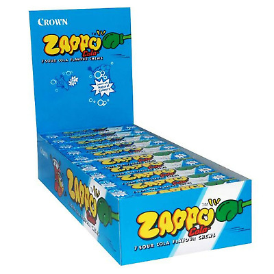 Bulk Lollies 60 x Zappo Chews Cola 26g Candy Buffet Sweets Party Favors Lolly