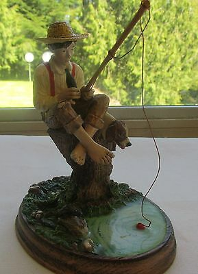 """Norman Rockwell's """"Bark If They Bite""""  Figurine Premier Issue  Nice"""