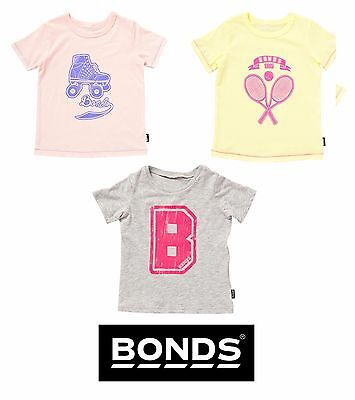 New Baby Bonds Girls Cotton Signature Logo Tee Tshirt Short Sleeve Outerwear