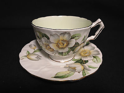 Aynsley White Blossoms C1132/2 Teacup & Saucer