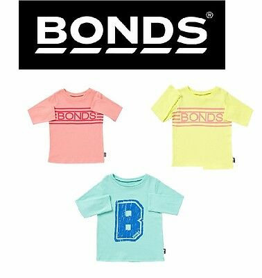 New Baby Kids Bonds Girls Boys Long Sleeve Signature Tee Sizes 6 Months- 4 Years