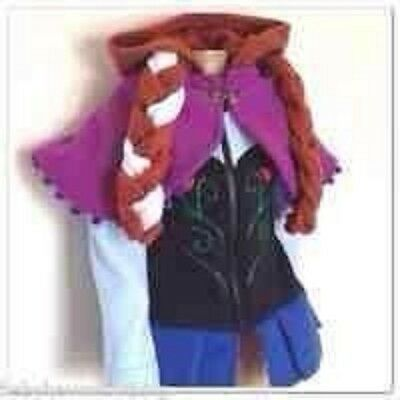 Frozen Elsa & Anna Fleece Top Plait Jacket Girls 3-4 5 6 7 8 Years