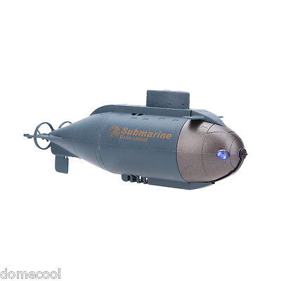 777-216 Mini RC Racing Submarine Boat R/C Toys with 40MHz Transmitter Blue