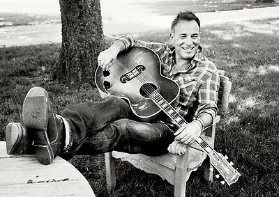 Bruce Springsteen Fantastic Relaxed BW Poster