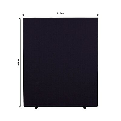 New Office Screens Partition Divider 1500mm x 1800mm H Colour: Black