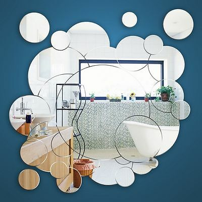 Bubbles acrylic Bathroom mirror Shatterproof and safe from £16.25