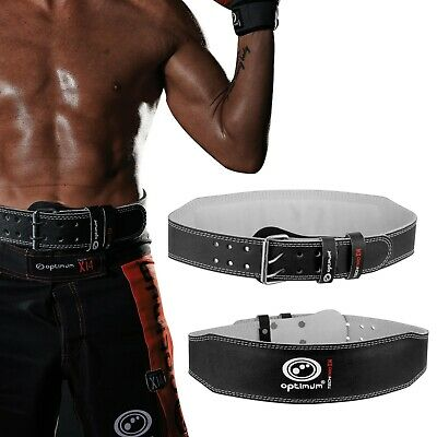 Optimum Techpro X14 Leather Weight Lifting Belt Back and Core Support