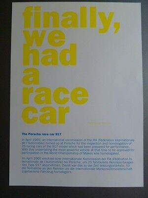 Porsche 917 Coupe Showroom Advertising Sales Poster RARE!! Awesome L@@K
