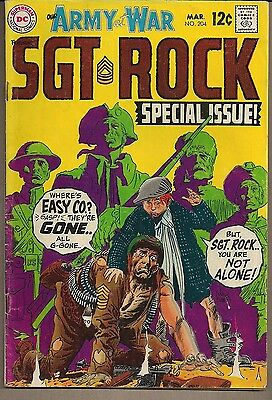 Our Army At War #204 Dc 03/69 Sgt Rock Intros Historic War Story Reprints Vg+