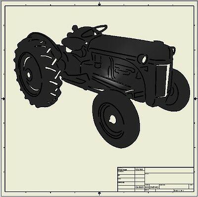 cnc dxf file ( Ford 8N Tractor )