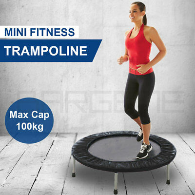 "36"" Mini Trampoline Jogger Rebounder Home Gym Workout Fitness Outdoor Indoor Bla"