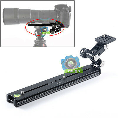 Telephoto Lens Support Long-focus Holder + Quick Release Plate For DSLR Camera