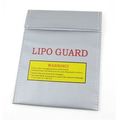 Battery Safety Bag Fireproof LiPo Silver 23cm x 19cm A+