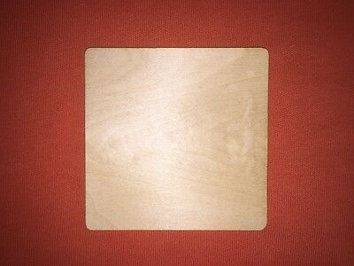 10 COASTER 10 x 10cm PLAIN WOODEN SHAPE  EMBELISHMENTS GIFT BLANKS CRAFT TAG