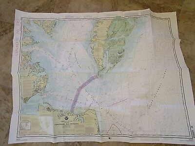 "NOAA Sounding Map - Chesapeake Bay Entrance  - Nautical - Large 48x31"" - #12221"