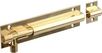 Securit Door Bolt 1In Wide Brass 63mm