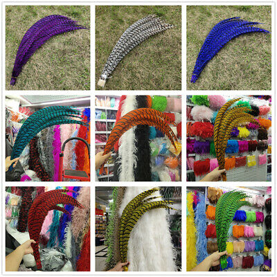 Pretty 10-100 PCS 32-36 inch / 80-90 cm Lady Amherst Pheasant feather decoration
