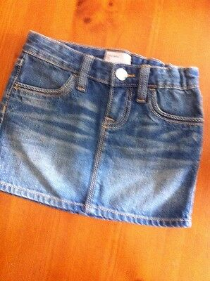 Gap Jeans Girls Denim Jean Skirt Size 5 Adjustable Waist Excellent Condition!
