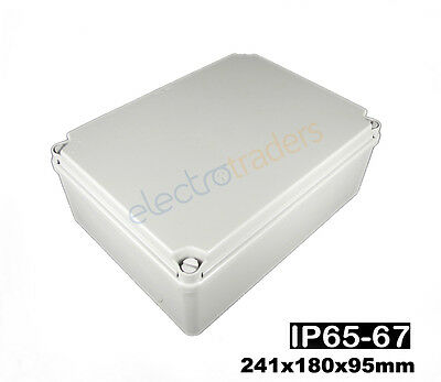 Adaptable Weatherproof Electrical Junction Box 241x180x95mm IP65