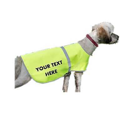 Custom Printed Dog High Vis Safety Vest Reflective Pet Hi-Vis Personalised Coat