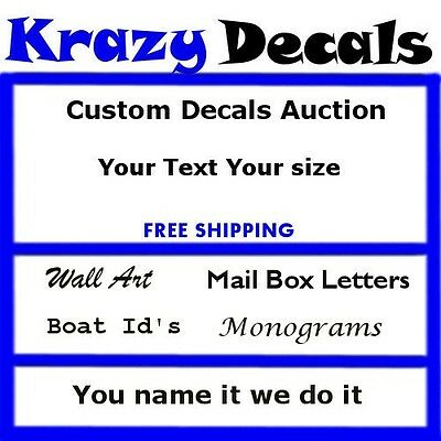 Custom Vinyl Decal Lettering Letters Stickers Business Text Made - Custom vinyl decal stickers   for business