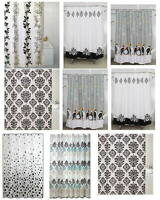 Modern Design Bathroom Shower Curtain Curtains With Hooks Standard Size180x180cm
