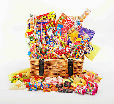 Luxury RETRO SWEET CHOCOLATE HAMPER - Large Choice of SIZE Birthday His Hers