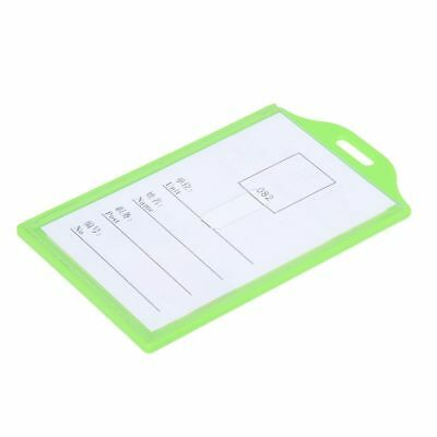 Plastic Vertical Business Working ID Badge Name Card Holder 5 Pcs WS