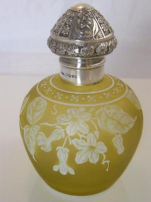 Silver Hm 1889 Two Colour Signed 'thomas Webb & Sons' Cameo Glass Perfume Bottle