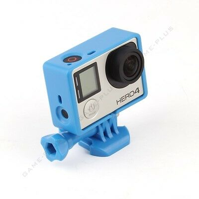 Standard Frame Border Mount Cover Housing Case for GoPro Hero 3 3+ 4 Camera Blue
