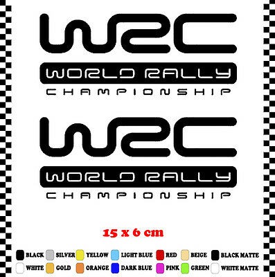 Pegatina/Sticker/Decal/Aufkleber/Vinyl Logo Wrc World Rally Championship