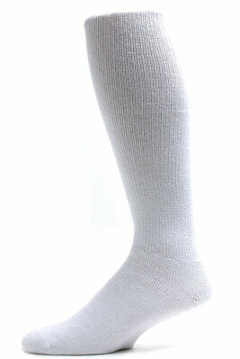 0a7fdd47b10 Sole Pleasers Men s King Size White Diabetic Over the Calf Socks - 3 Pairs