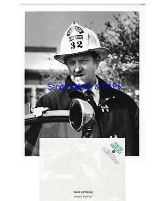 DAVE KETCHUM Terrific Original TV Photo WHERE'S THE FIRE