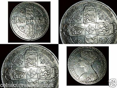 UK  1883 Great Britain GOTHIC - Florin - Two Shillings   1883 [mdccclxxxiii]