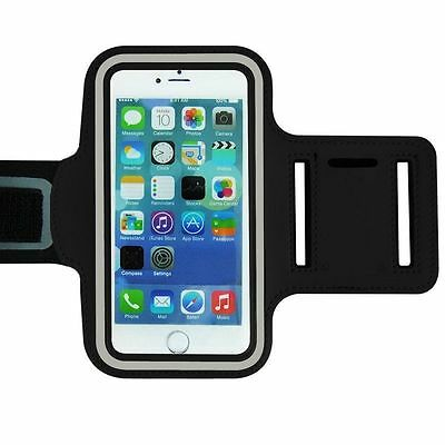 "Universal Adjustable Armband Case Holder For Mobiles UpTo 5.2"" Black (Large)"