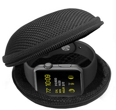 Tough Hard Clamshell Fabric Case Cover Holder For Apple Watch 38mm 42mm Sports