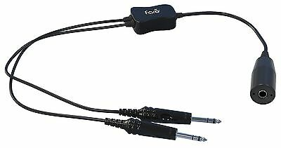 Faro Aviation - Low to High Impedance Headset Adapter (Military to GA Dual Plug)