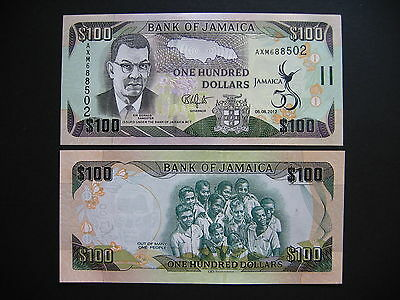 JAMAICA  100 Dollars 06.08.2012 Commemorative Issue  (P90)  UNC