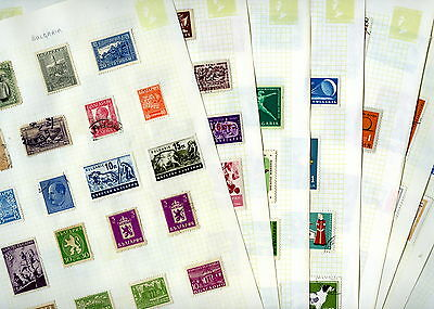 Stamps - BULGARIA Eight Pages - Mounted Unsorted