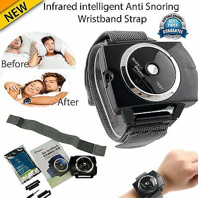 NHS Stop Snoring Wristband Infrared Intelligent Anti-Snore Brand New UK Stock